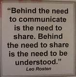 Behind the need to communicate