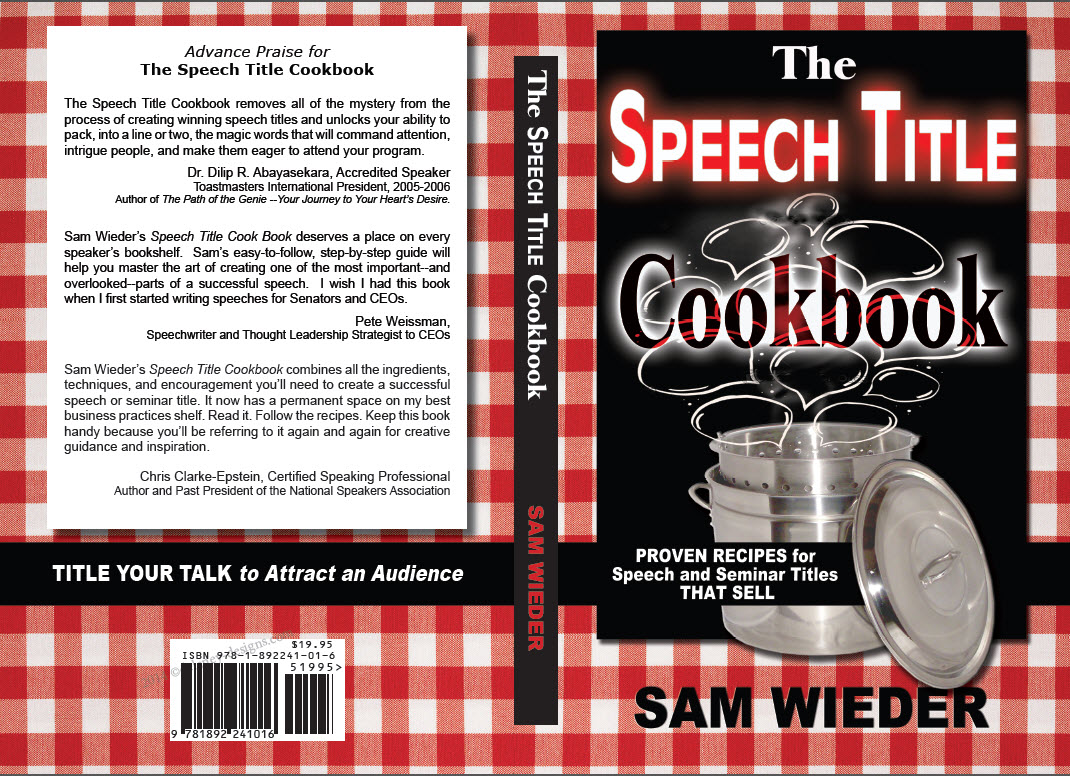 Speech Title Cookbook